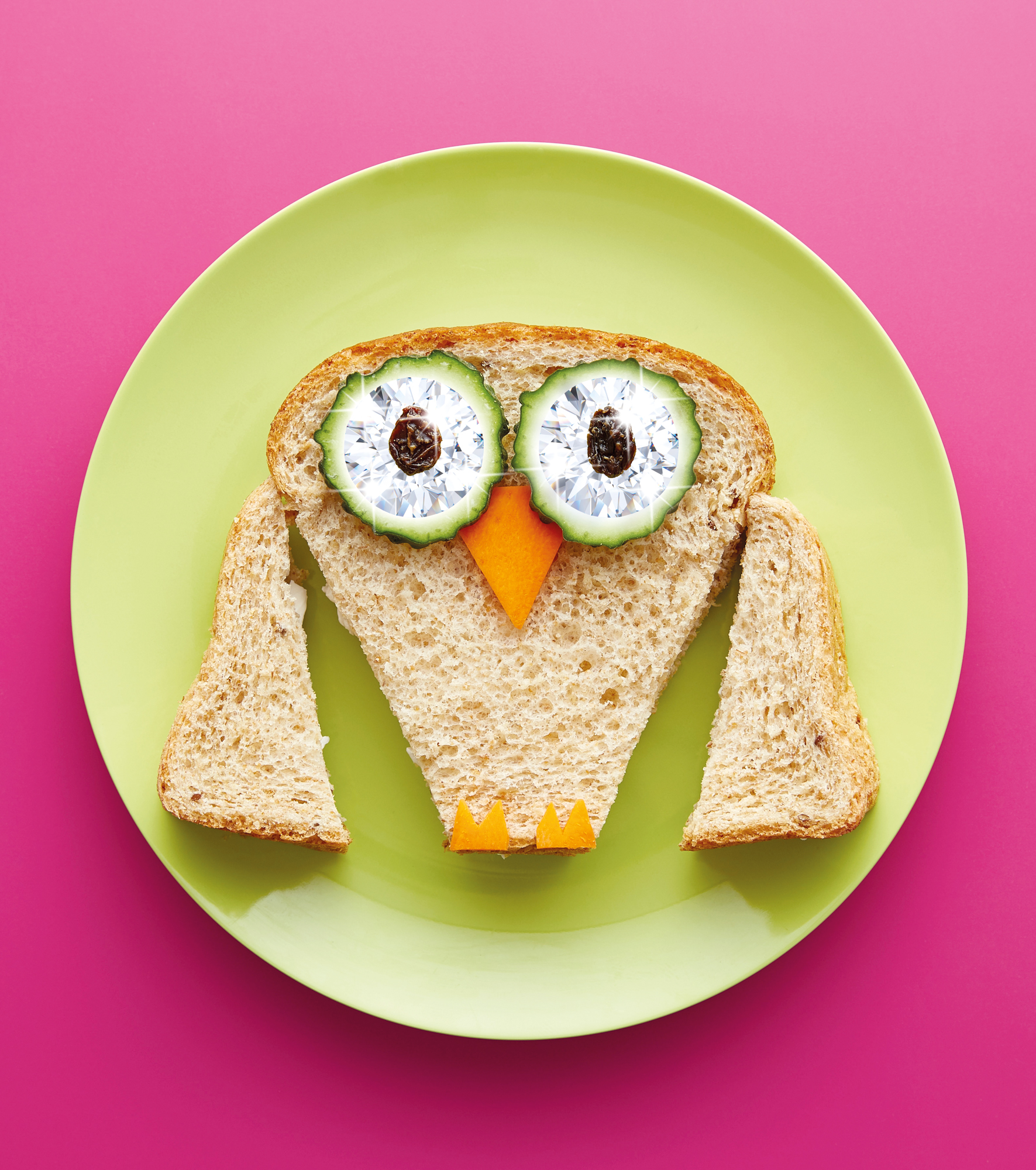 Owl on toast